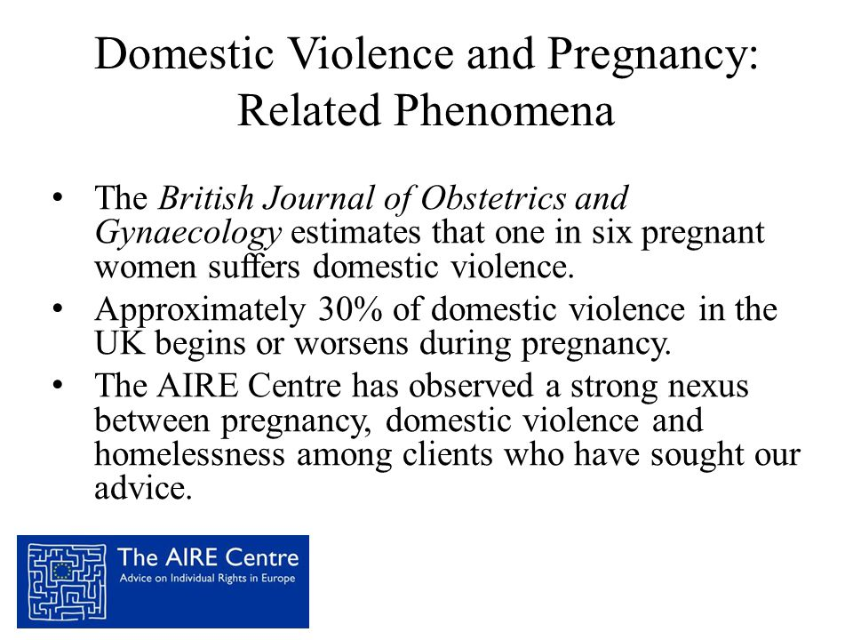 Domestic Violence and Pregnancy: Related Phenomena