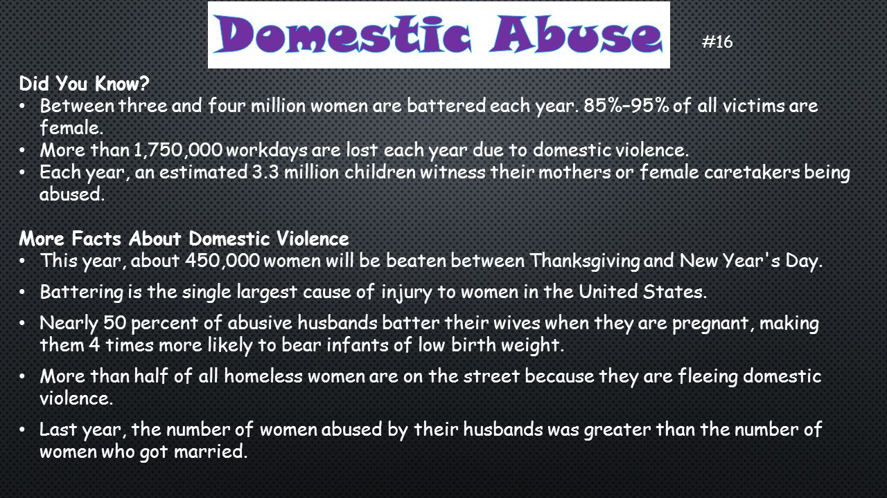 Domestic Abuse Did You Know