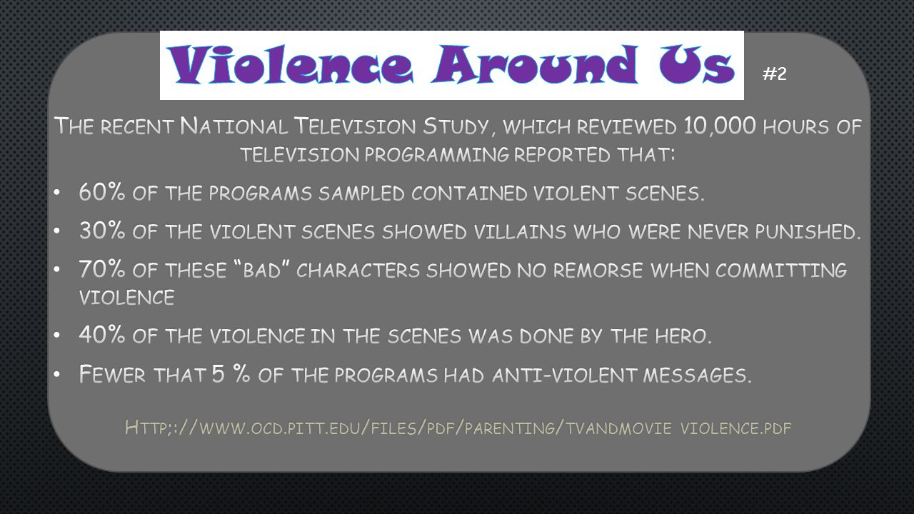 Http;://www.ocd.pitt.edu/files/pdf/parenting/tvandmovie violence.pdf
