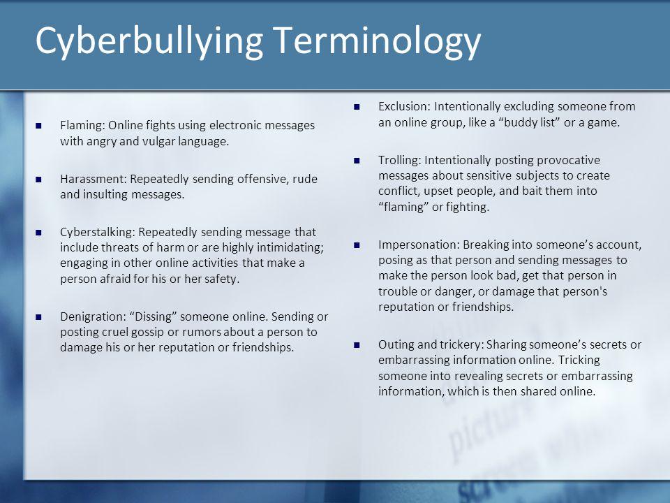 Cyberbullying Terminology