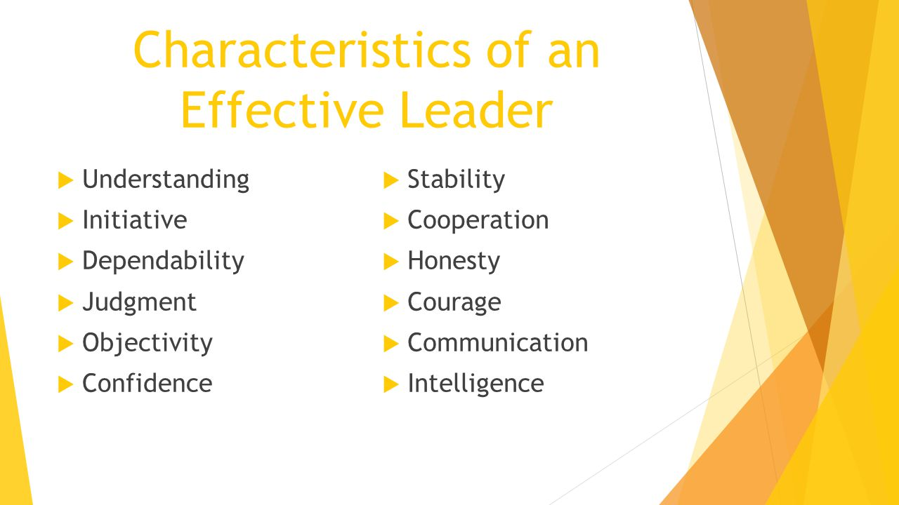essential characteristics of effective leader Start studying ch 11 leadership: what makes an effective leader learn vocabulary, terms, and more with flashcards, games, and other study tools.