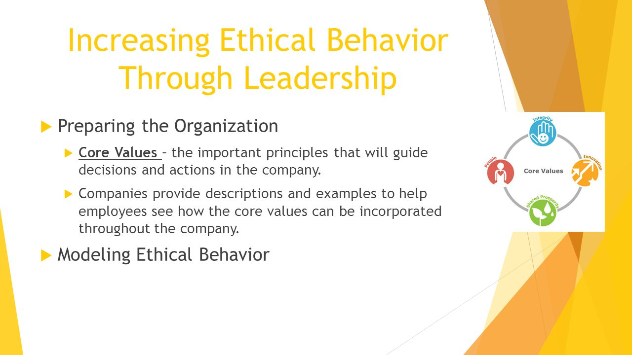 Increasing Ethical Behavior Through Leadership
