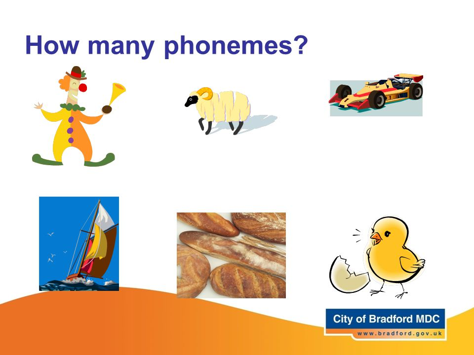 How many phonemes Next 3 slides 15 minutes