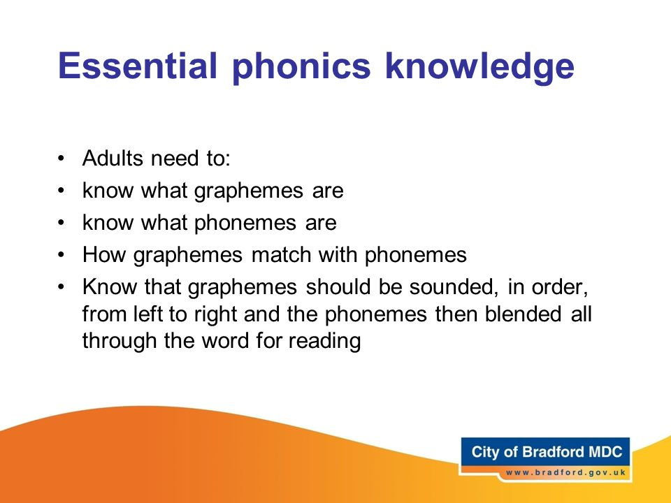 Essential phonics knowledge