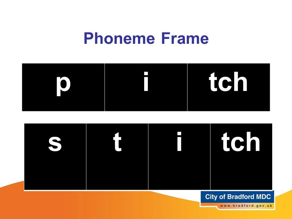 Phoneme Frame p i tch s t i tch