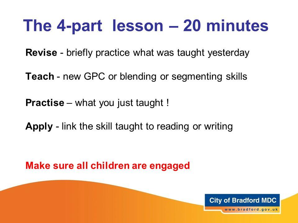 The 4-part lesson – 20 minutes