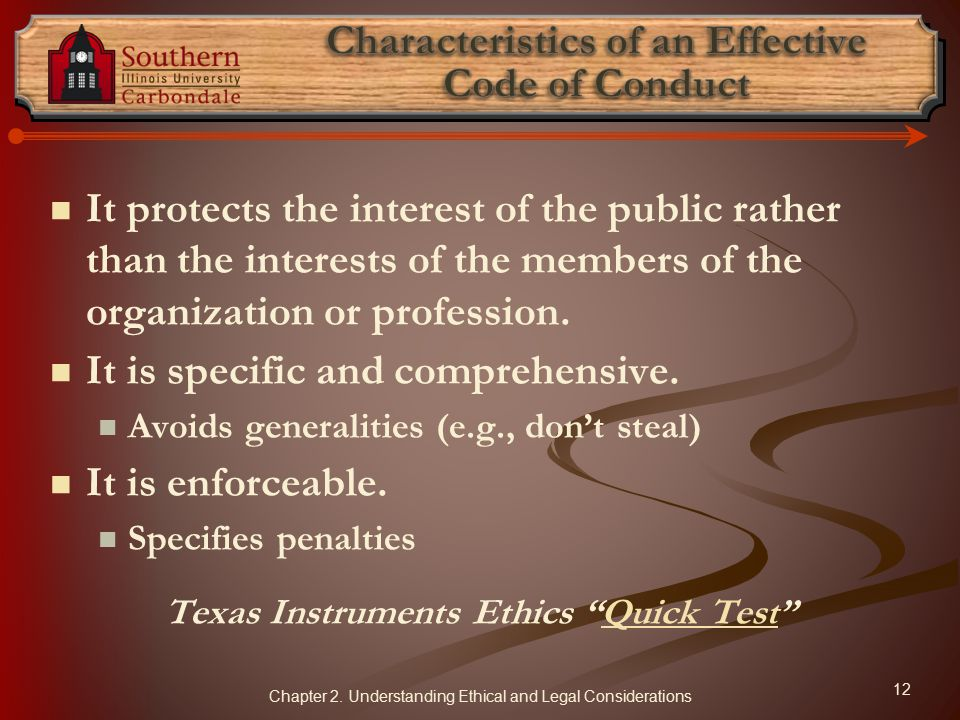 Characteristics of an Effective Code of Conduct