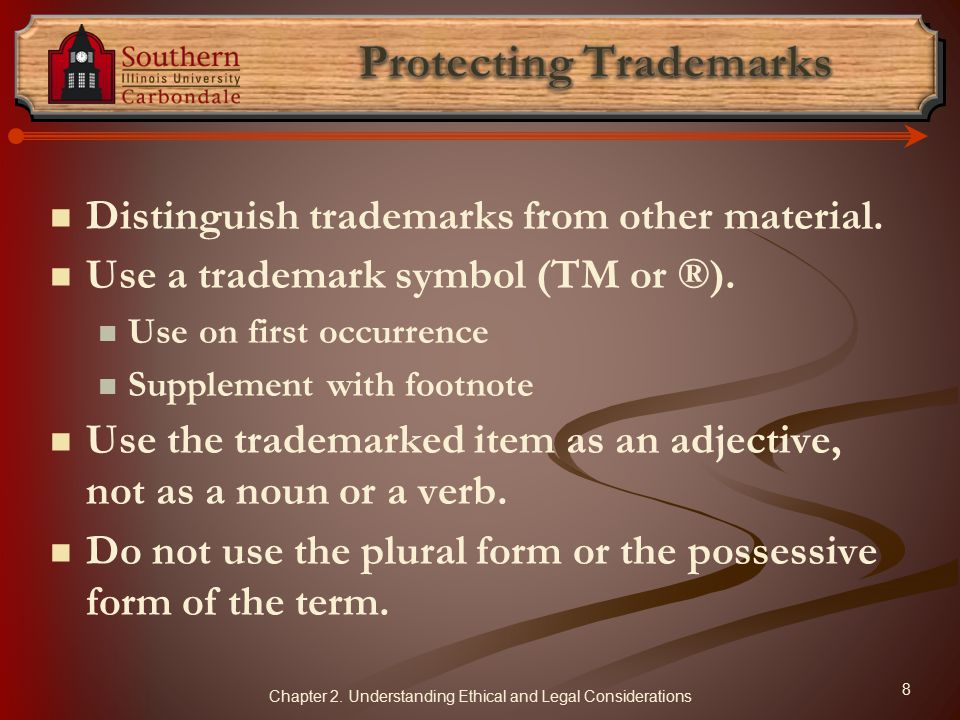 Protecting Trademarks