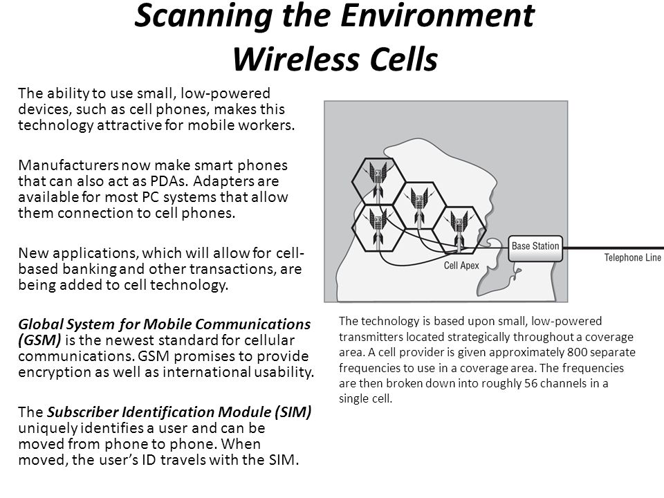 Scanning the Environment Wireless Cells
