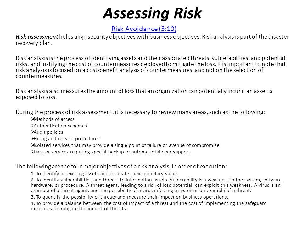 Assessing Risk Risk Avoidance (3:10)