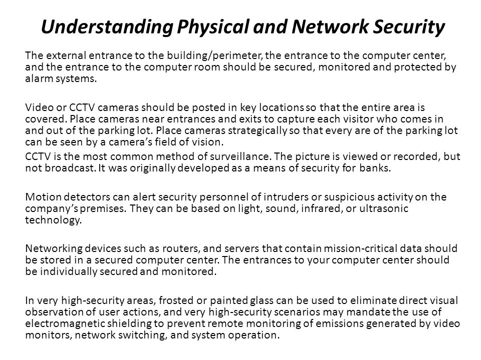 Understanding Physical and Network Security