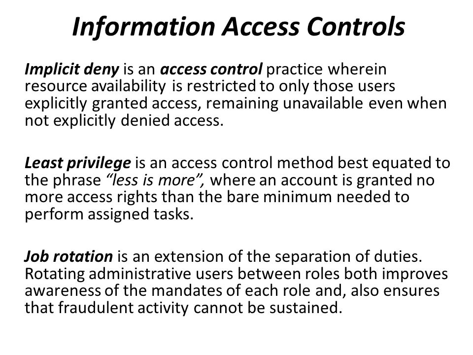 Information Access Controls