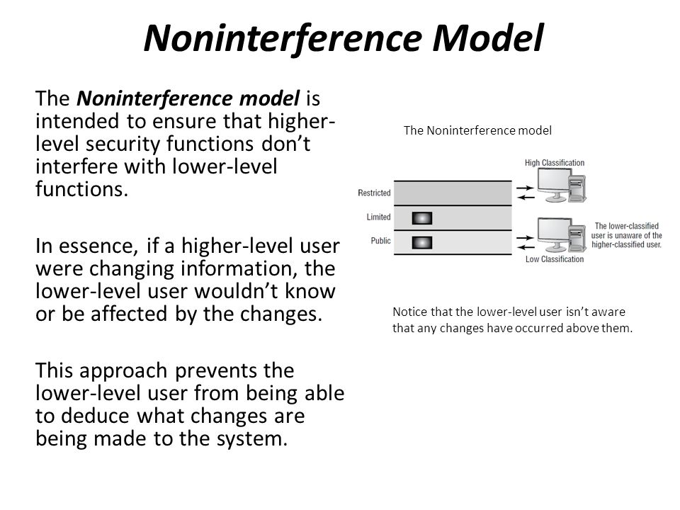 Noninterference Model