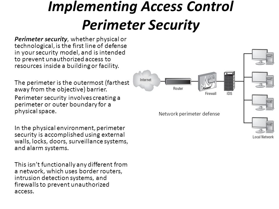 Implementing Access Control Perimeter Security