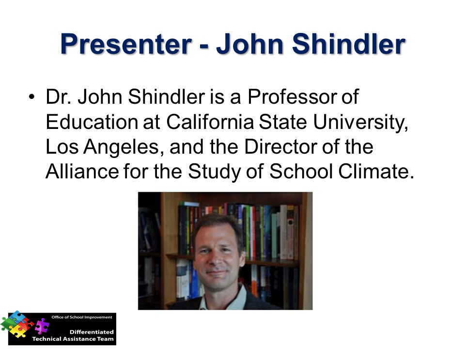 Presenter - John Shindler