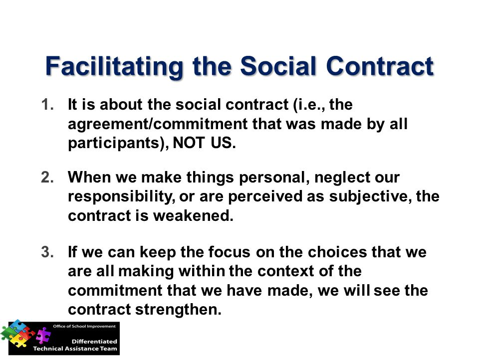 Facilitating the Social Contract