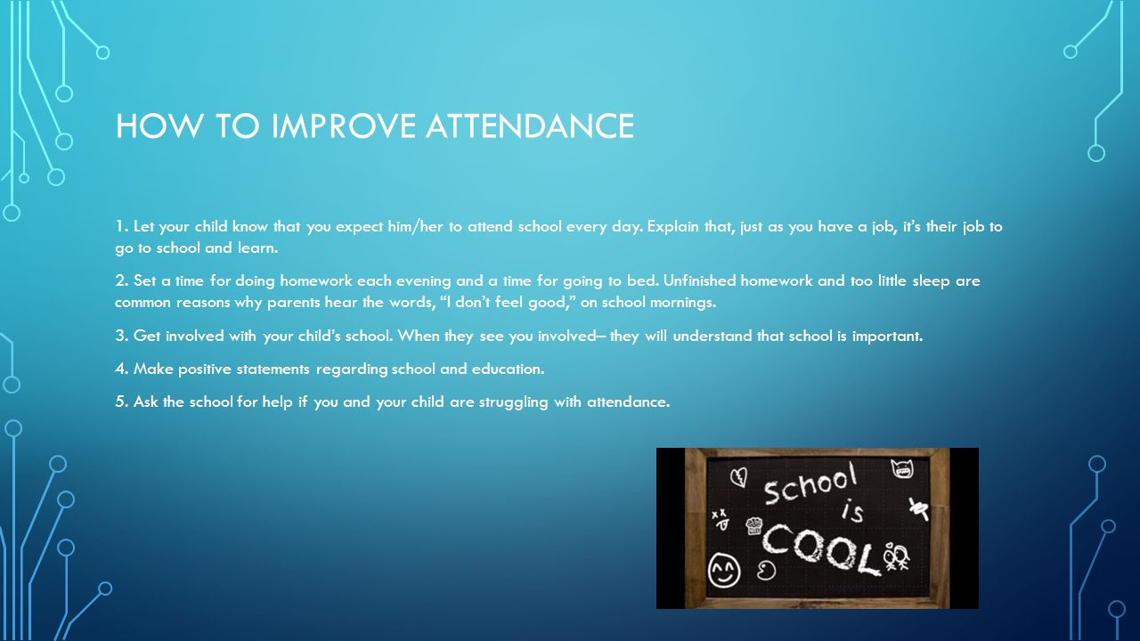 How to improve attendance