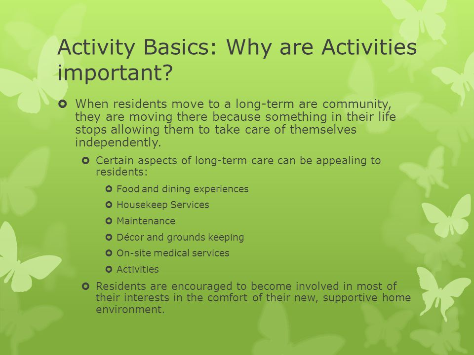 Activity Basics: Why are Activities important