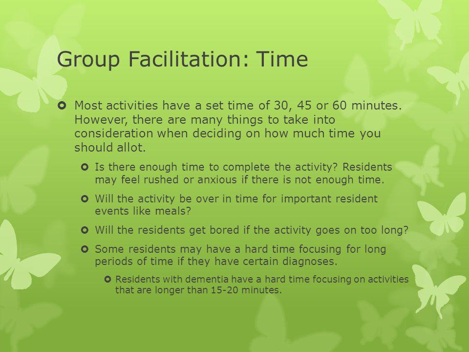 Group Facilitation: Time