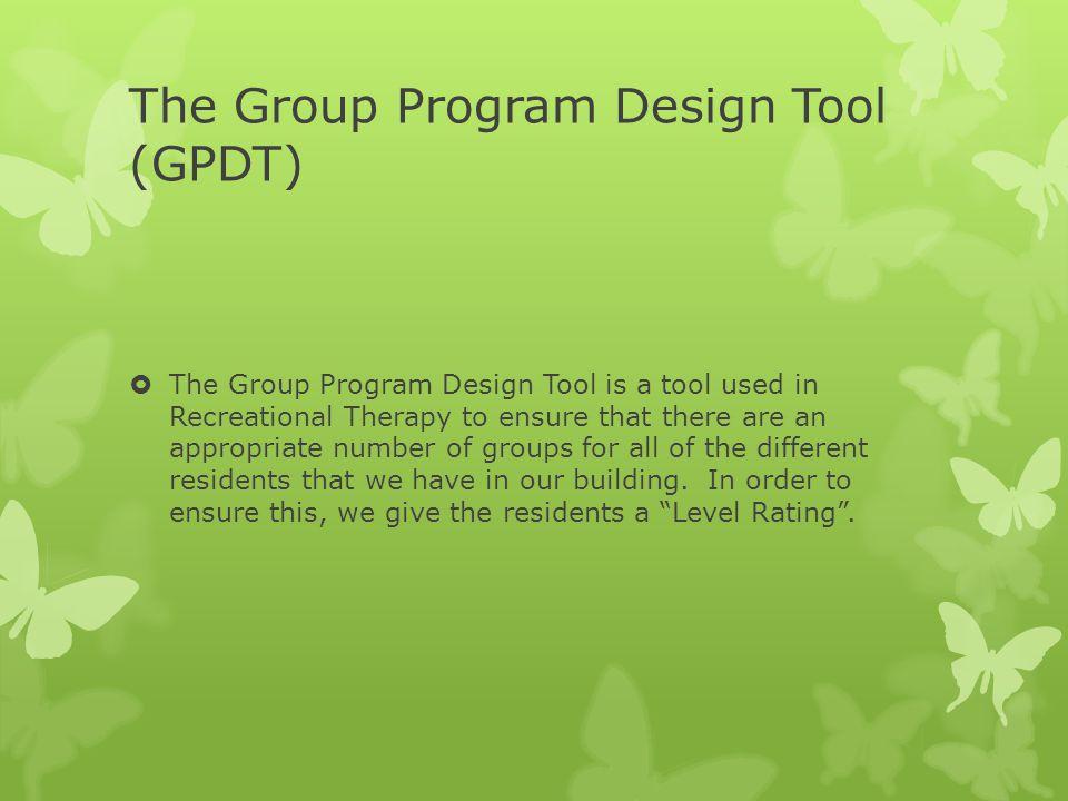 The Group Program Design Tool (GPDT)