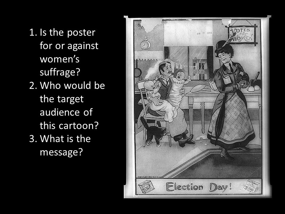 Is the poster for or against women's suffrage