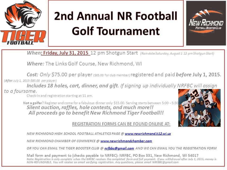 2nd Annual NR Football Golf Tournament
