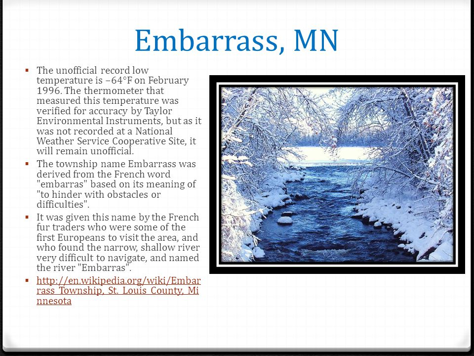 Embarrass, MN