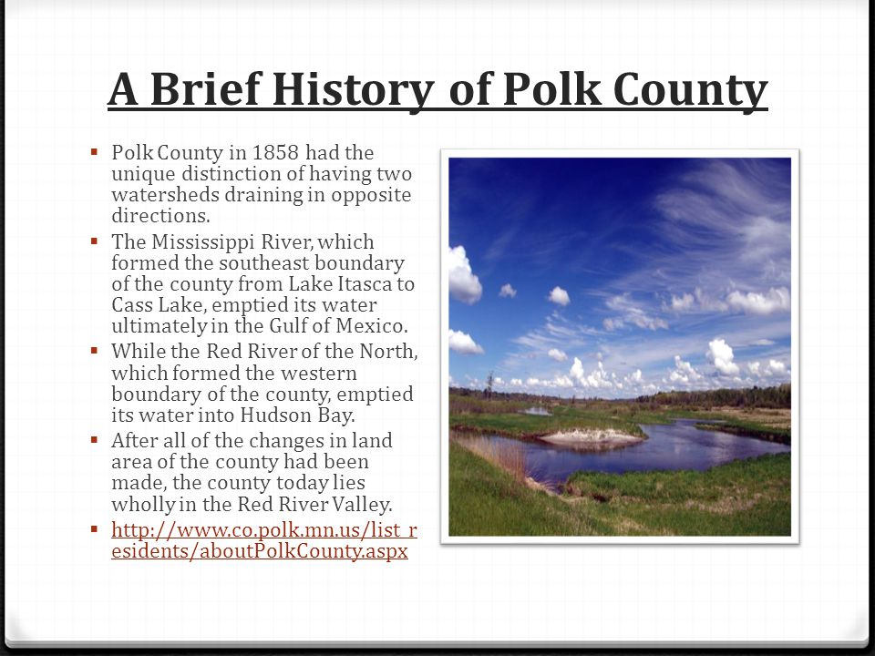 A Brief History of Polk County