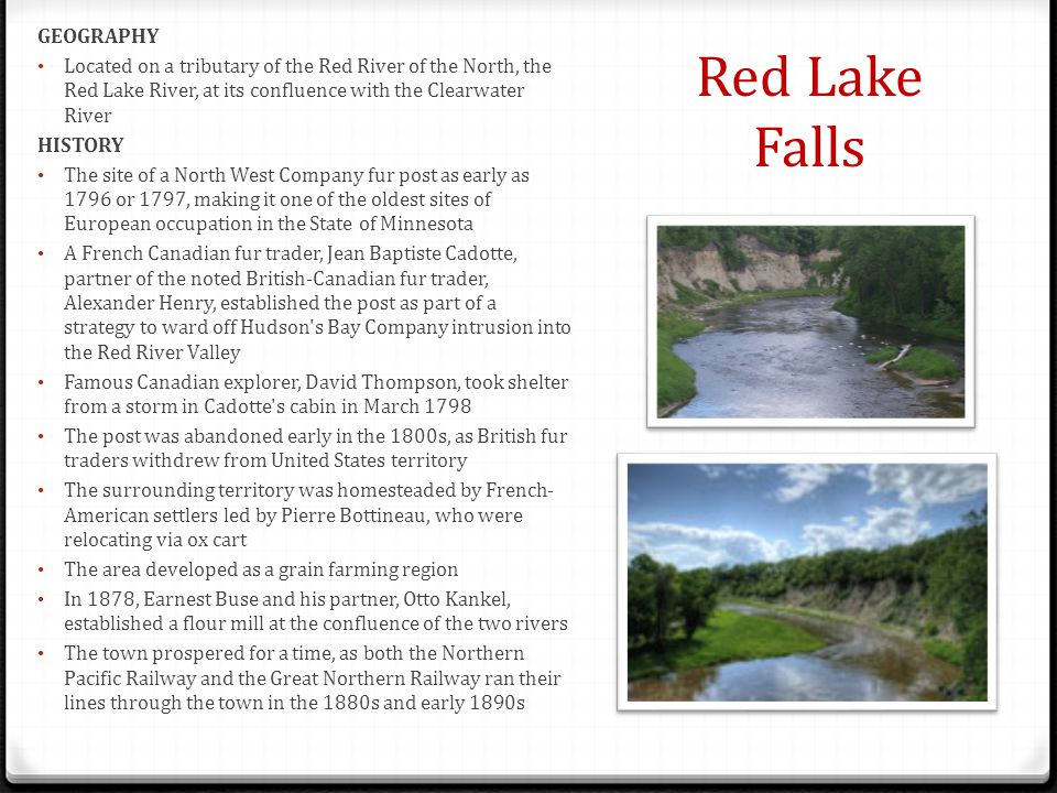 Red Lake Falls GEOGRAPHY