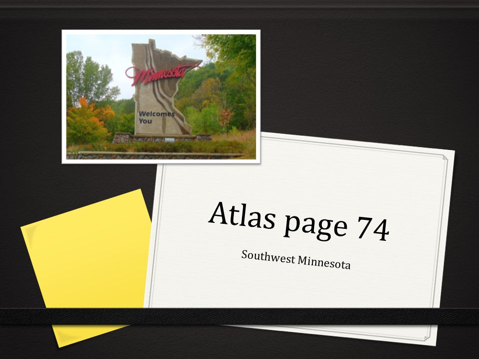 Atlas page 74 Southwest Minnesota