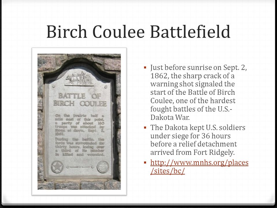 Birch Coulee Battlefield