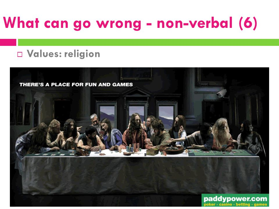 What can go wrong - non-verbal (6)