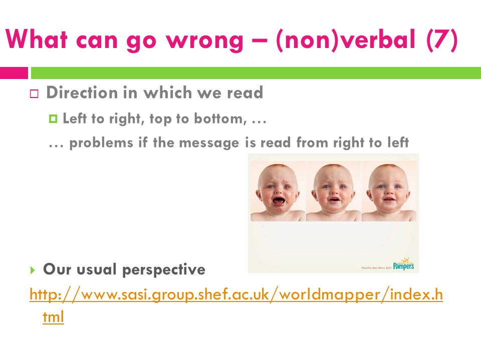 What can go wrong – (non)verbal (7)