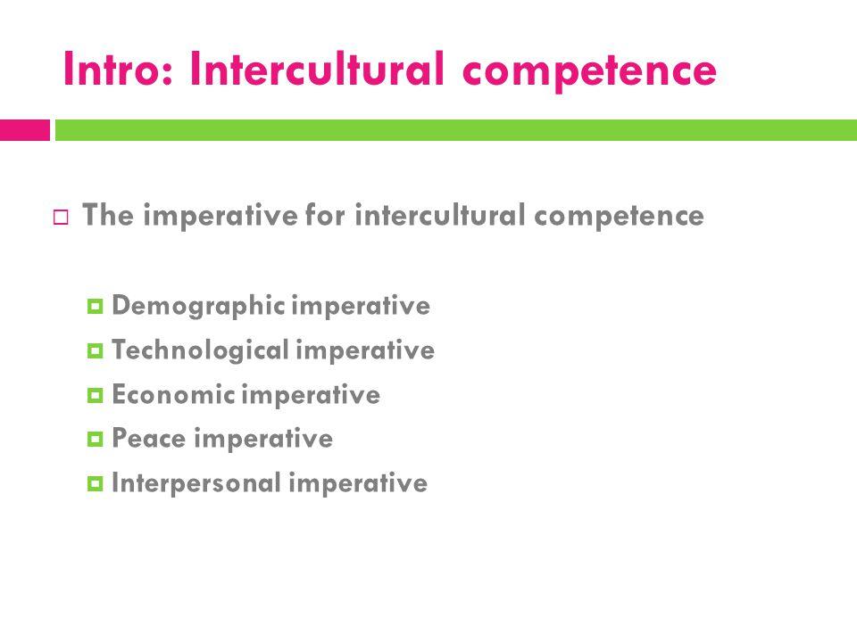 Intro: Intercultural competence