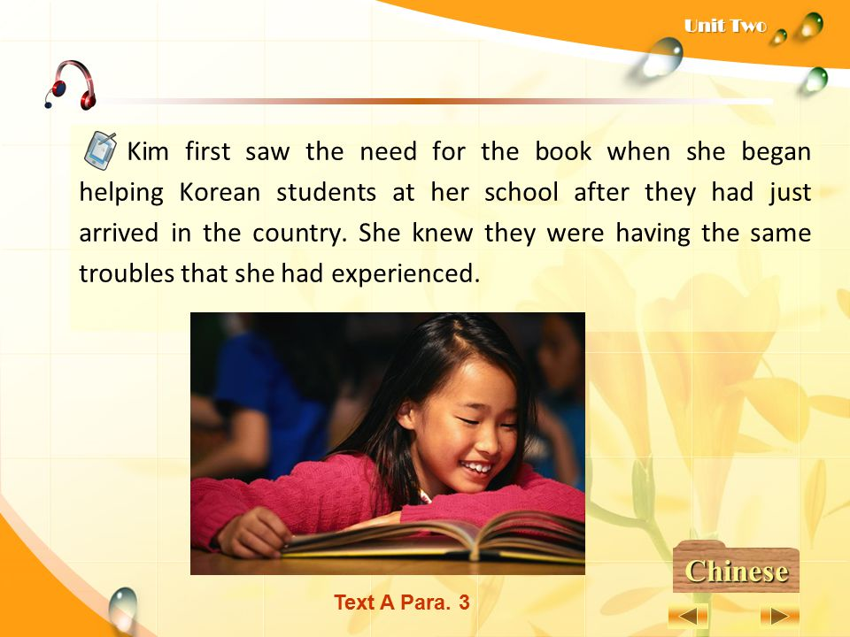 Kim first saw the need for the book when she began helping Korean students at her school after they had just arrived in the country. She knew they were having the same troubles that she had experienced.