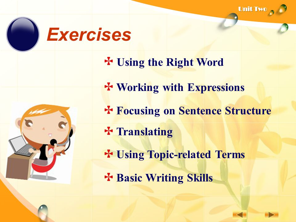 Exercises Using the Right Word Working with Expressions