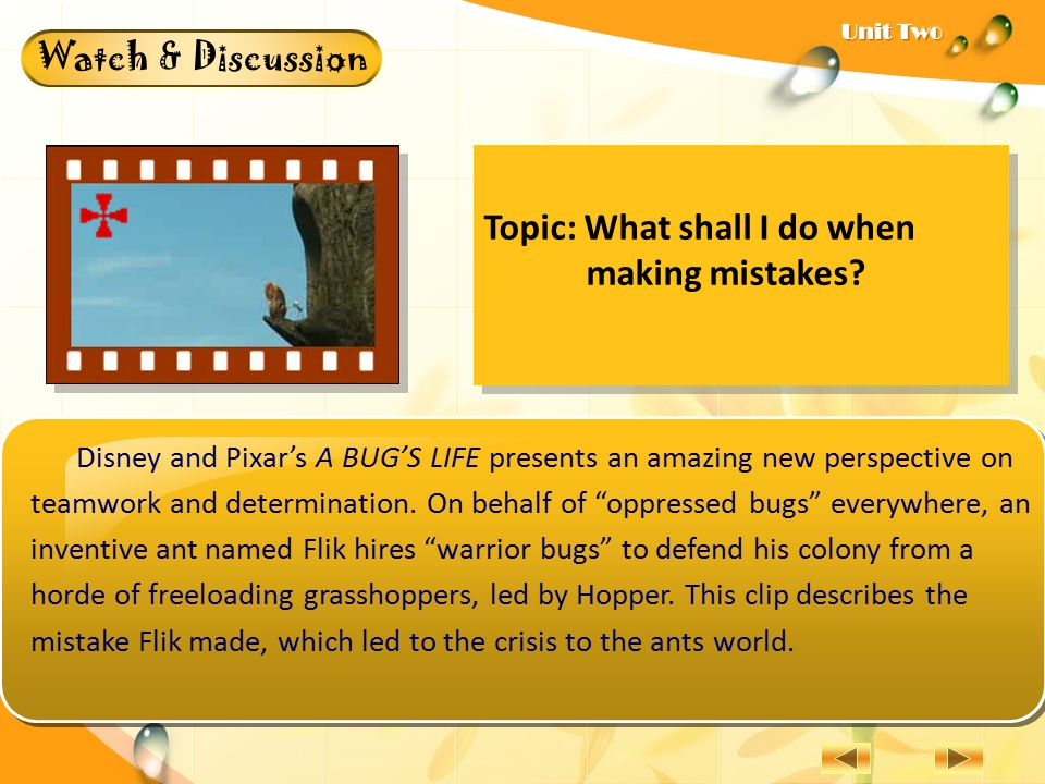 Topic: What shall I do when making mistakes