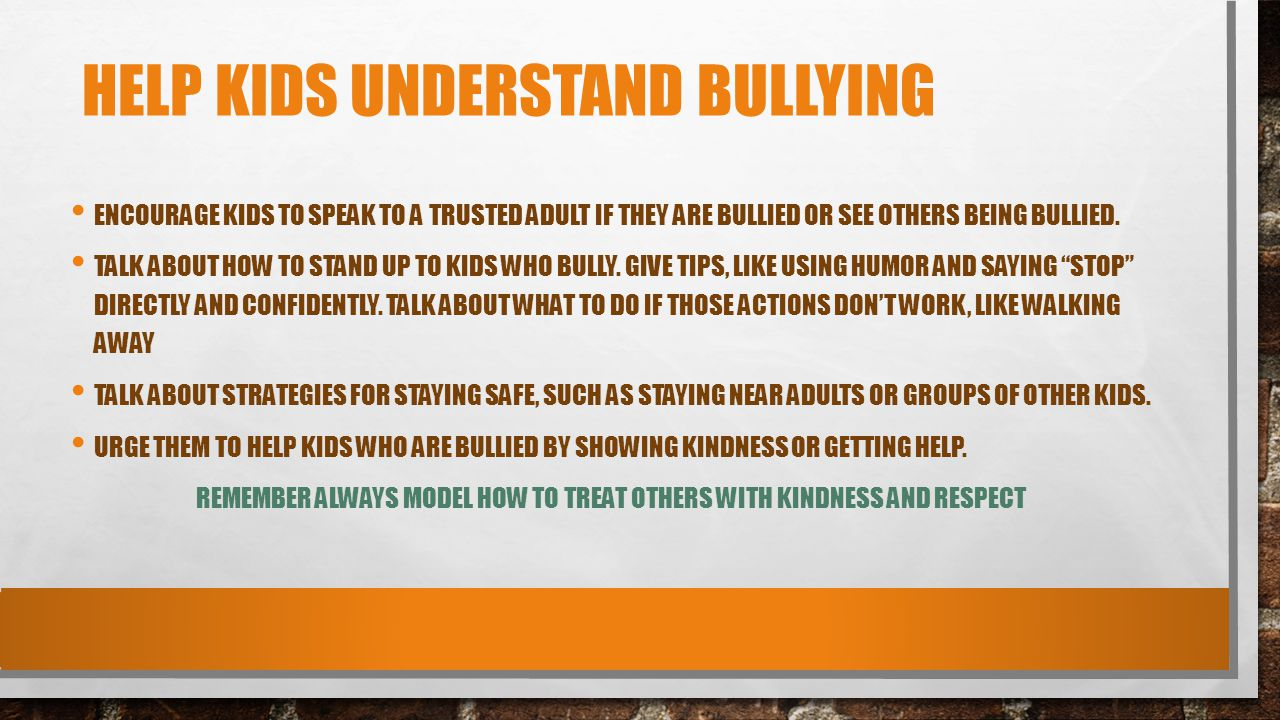 Help Kids Understand Bullying