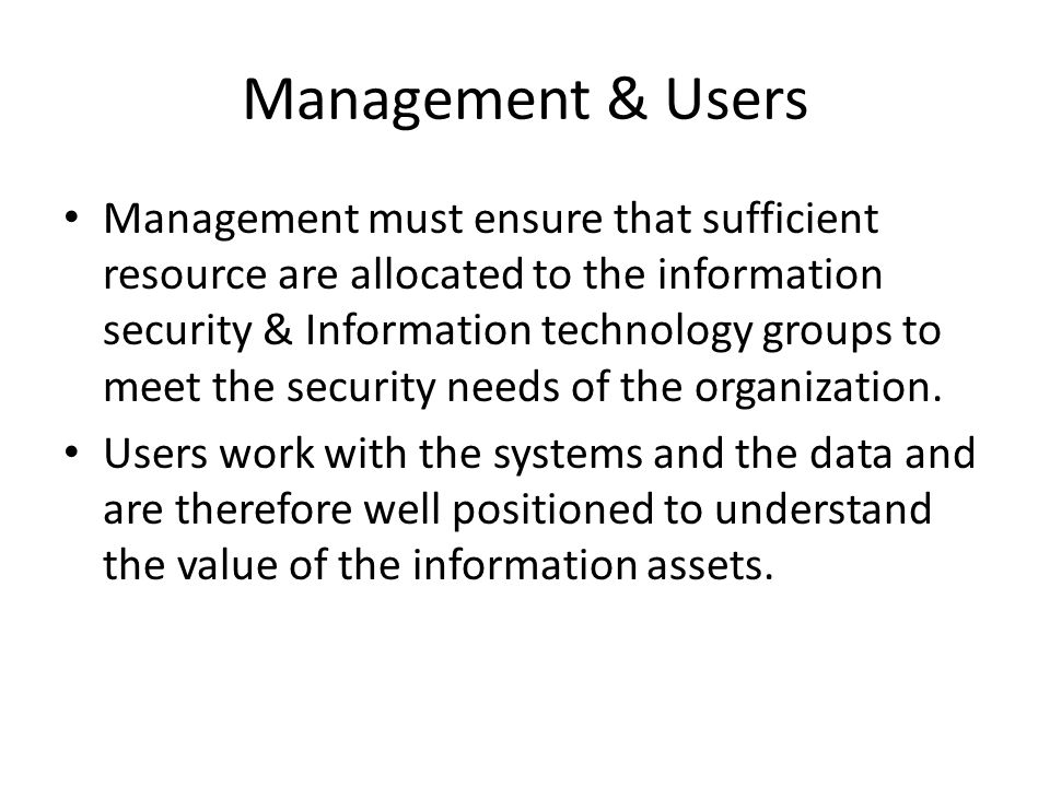 Management & Users