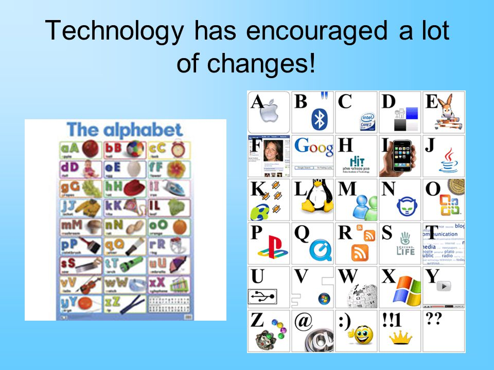 Technology has encouraged a lot of changes!