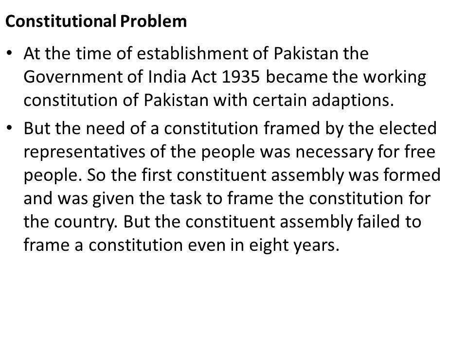 Constitutional Problem