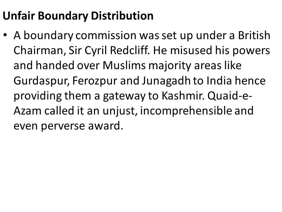 Unfair Boundary Distribution