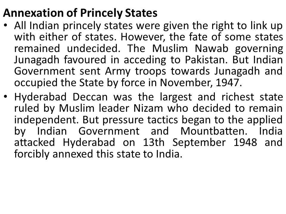 Annexation of Princely States