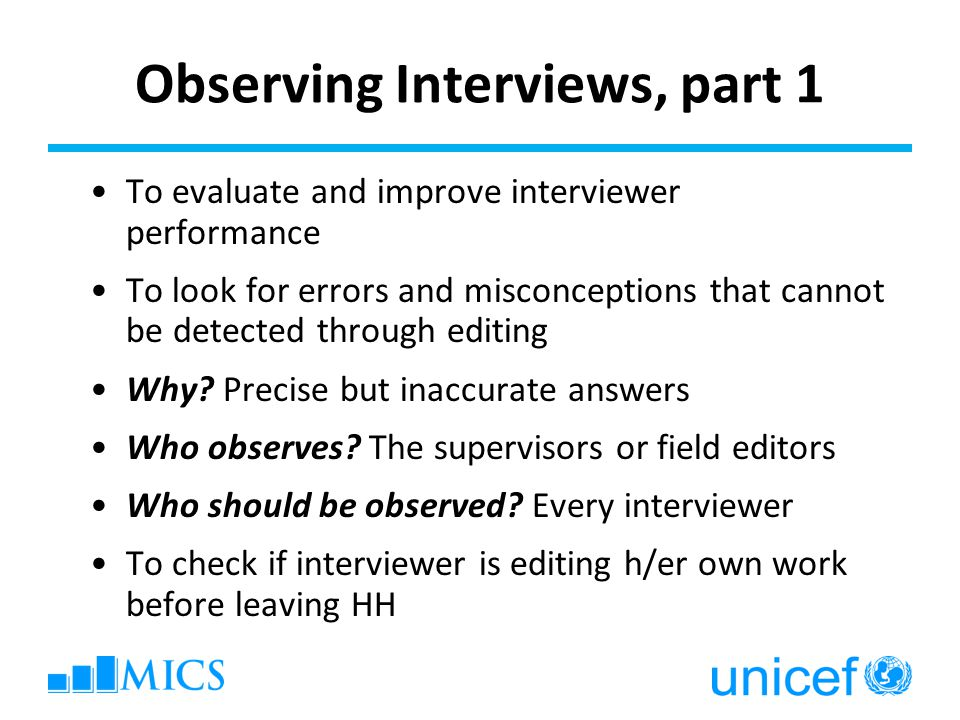 Observing Interviews, part 1