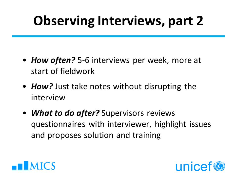Observing Interviews, part 2