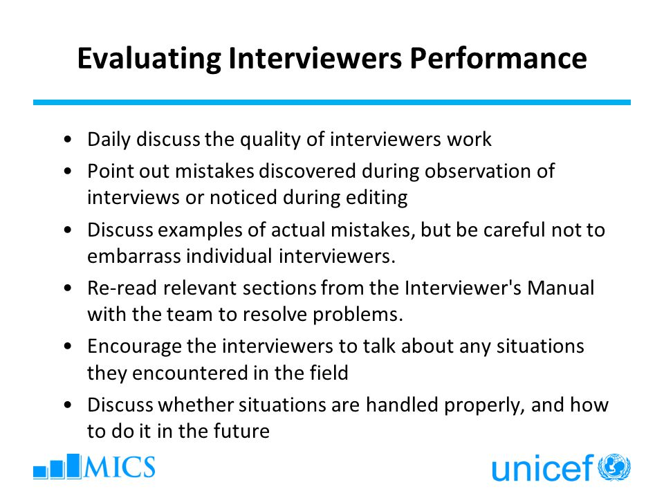 Evaluating Interviewers Performance