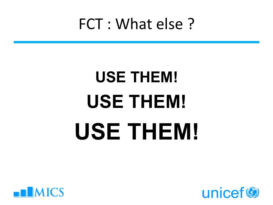 FCT : What else USE THEM!