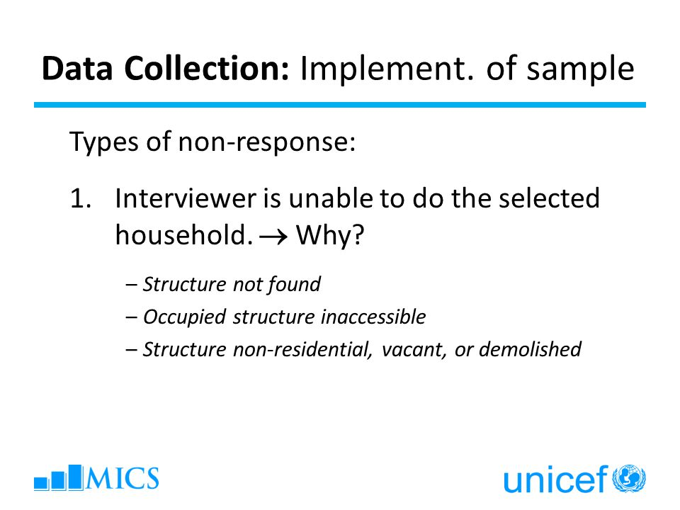 Data Collection: Implement. of sample