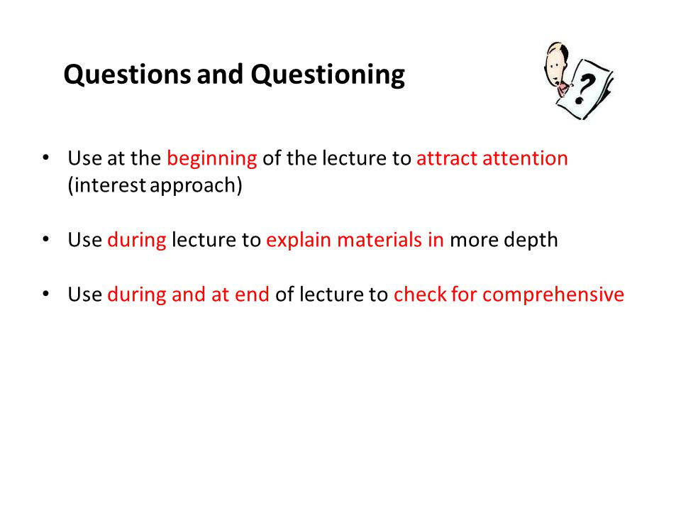 Questions and Questioning