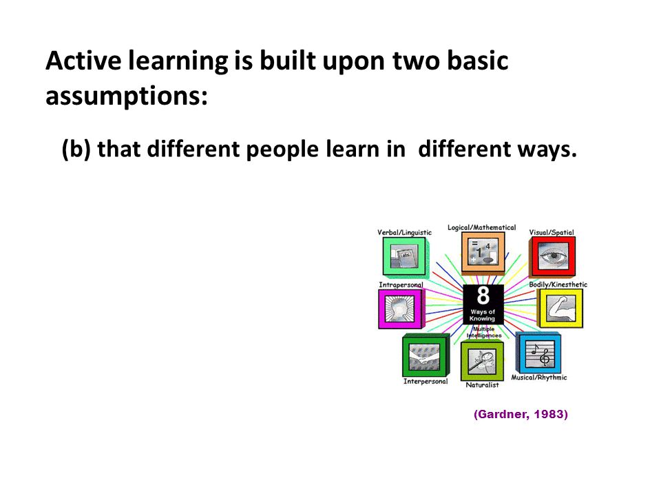 Active learning is built upon two basic assumptions:
